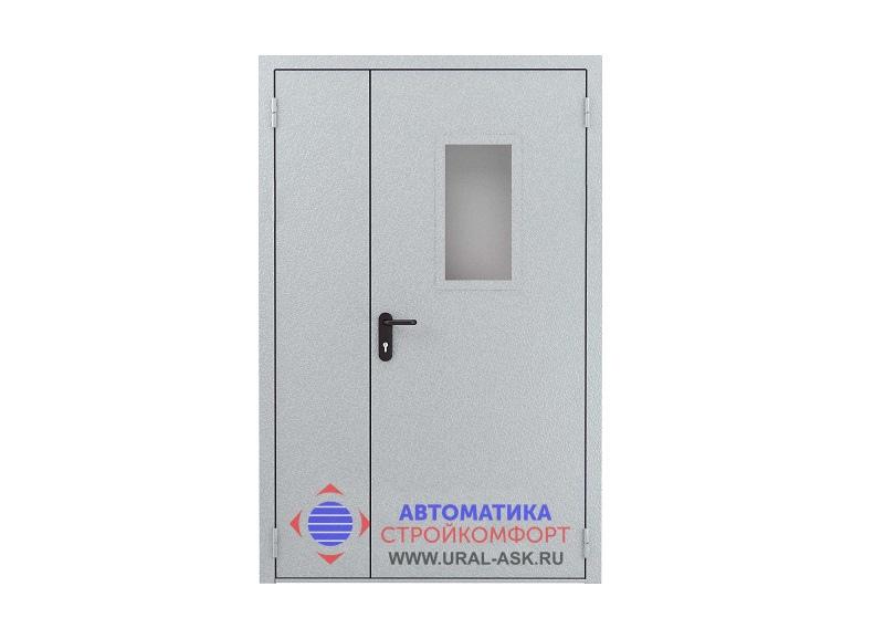 дверь противопожарная металлическая двупольная цена